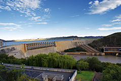 Gariep Dam Wider. Gariep Dam, Free State, South Africa - the largest dam in South Africa with a radius of 360 square kilometers; (formerly known as the Hendrik Royalty Free Stock Photos