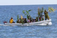 Garifuna bosättningdag arkivbild