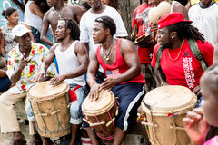 Garifuna drummers Stock Photos