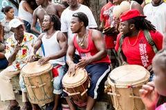 Garifuna drummers Stock Photos