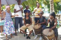 Garifuna musik Arkivbilder