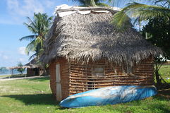 Garifuna village in Honduras. House in Caribbean town of Punta Gorda, Garifuna village in Honduras on the island of Roatan in Central America stock photography