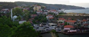 Garipce村庄在伊斯坦布尔-土耳其 免版税库存图片