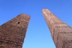 二个塔 库存图片