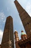 Garisenda and Asinelli towers, symbols of Bologna, Italy Stock Photo