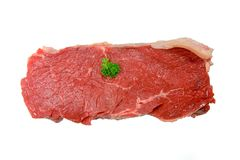 Garish on meat Stock Image