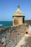 Garita of San Gerónimo Fort. A view of a Garita (Sentry post) on San Gerónimo Fort,  Old San Juan, Puerto Rico Stock Image