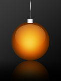 Garland. Orange garland over grey background. abstract illustration Stock Images
