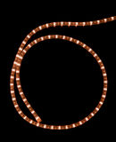 Garland. Glowing garland on black background Stock Photo