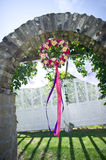 Garland. The small garlands on the arches Stock Photos