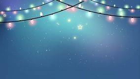 Garland Animated Background coloreado colocado la Navidad libre illustration