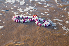 Garland in the atlantic ocean Royalty Free Stock Photography