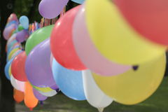 Garland balloons Stock Photo