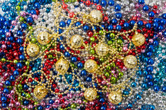 Garland Beads, christmas decorations Royalty Free Stock Photos