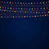 Garland on a blue background.  Eps 10. Vector abstract background. Garland on a blue background Royalty Free Stock Photo