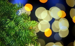 Garland bokeh Royalty Free Stock Photo