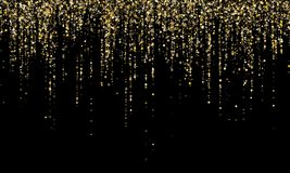 Garland border gold glitter vector background illustration. stock photography