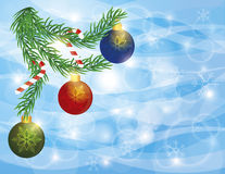 Garland Border with Ornaments Candy Cane Drawing Royalty Free Stock Photos
