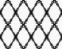 Garland Brush Strokes Pattern negro Fotos de archivo