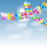 Garland Bunting flags Royalty Free Stock Images