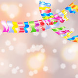 Garland Bunting flags Stock Images