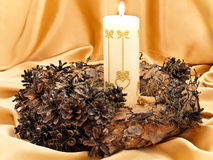 Garland with candle Stock Photography