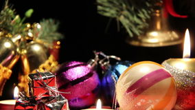 Garland and candles stock footage