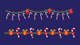 Garland with candy Stock Images
