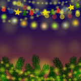 Garland Christmas Background Illustration de Vecteur