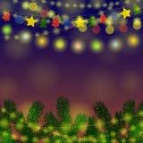 Garland Christmas Background Image stock