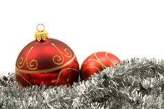 Garland with christmas baubles Stock Image