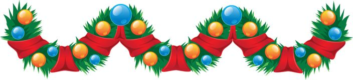 Garland Christmas decoration Royalty Free Stock Image