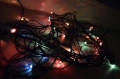 Garland Christmas julmirakel, väntande på lycka, julglädje royaltyfri bild