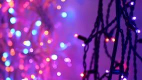 Garland Christmas New Year video estoque