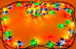 Garland of colored lights for Christmas trees Stock Photography