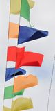 Garland of colorful flags Royalty Free Stock Photos