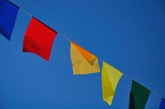 Garland of colorful flags Royalty Free Stock Photography