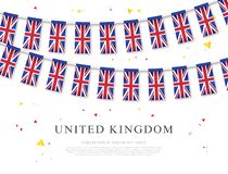 Garland of flags of Great Britain. Vector illustration. Elements for design. Garland of flags of Great Britain. Vector illustration on white background. Elements vector illustration