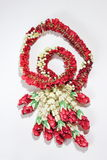 Garland flower in Thai style on a white Stock Image