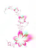 Garland of flowers. Fractal image of colorful flowers Stock Photography