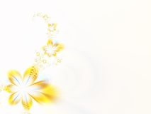 Garland of flowers. Garland of yellow flowers on a white background Stock Photography