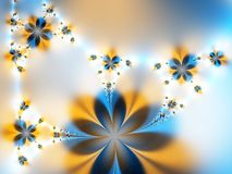 Garland of flowers. On a light background Royalty Free Stock Photography
