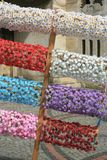 Garland from flowers Stock Photo