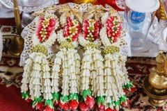 Garland of flowers Stock Photo