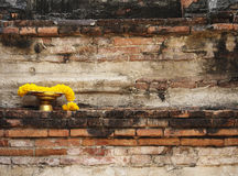 Garland on Golden Tray, Ayutthaya, Thailand Stock Images
