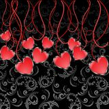 Garland of Hearts Stock Images