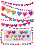 Garland of hearts Royalty Free Stock Images