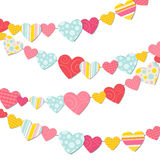 Garland of hearts Royalty Free Stock Photo