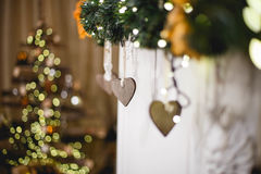 Garland of hearts. On fire Royalty Free Stock Photos