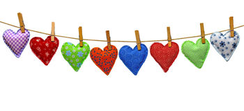 Garland of hearts Stock Photography